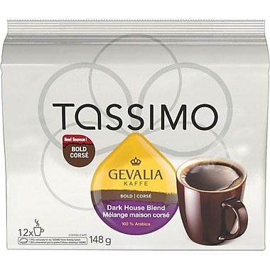 GEVALIA Dark House Blend T-Disc Refills, 12/Pack