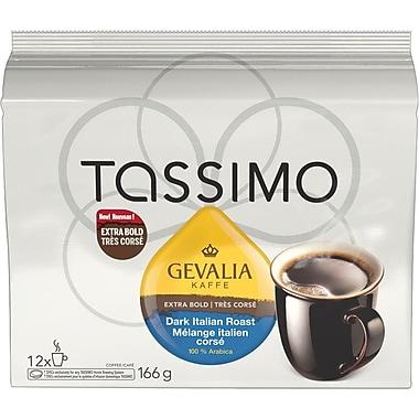 GEVALIA – Café torréfaction italienne, foncé, recharges T-Disc