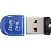 Staples micro Relay 16GB USB 2.0 USB Flash Drive (Blue)