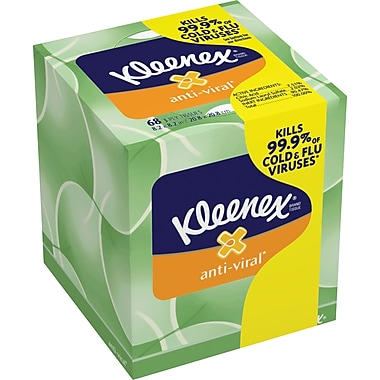 Kleenex® Anti-Viral Facial Tissues, 3-Ply, 27/Case