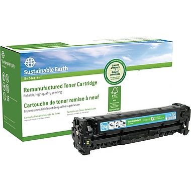 Sustainable Earth by Staples Remanufactured Cyan Toner Cartridge, Canon 118 (SEB2025CR)