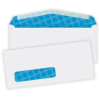 Quality Park Envelopes White Antimicrobial Window #10, 4-1/8