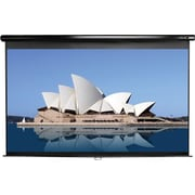 "Elite Screens Manual Series 113"" Manual Wall / Ceiling Mount  Projector Screen, 1:1, Black Casing"