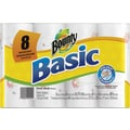 Bounty Basic Paper Towel Rolls, 1-Ply, 8 Rolls/Case