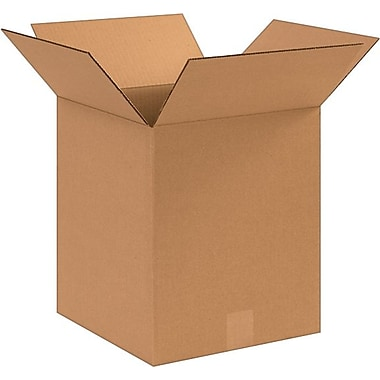 10in.(L) x 10in.(W) x 12in.(H) - Staples® Corrugated Shipping Boxes, 25/Bundle