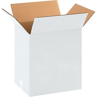 11.25in.(L) x 8.75in.(W) x 12in.(H) - Staples® White Corrugated Shipping Boxes, 25/Bundle