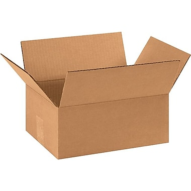 11in.(L) x 8in.(W) x 4in.(H) - Staples® Corrugated Shipping Boxes, 25/Bundle