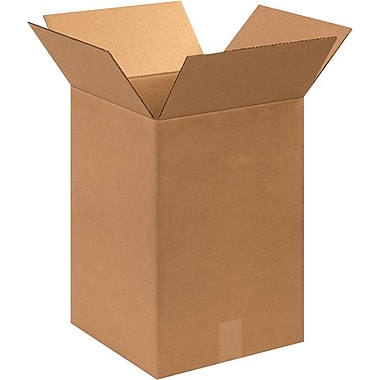 12in.(L) x 12in.(W) x 18in.(H) - Staples® Corrugated Shipping Boxes, 25/Bundle