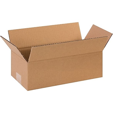 12in.(L) x 6in.(W) x 5in.(H) - Staples® Corrugated Shipping Boxes, 25/Bundle