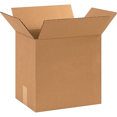 12.25in.(L) x 9.25in.(W) x 12in.(H) - Staples® Corrugated Shipping Boxes, 25/Bundle