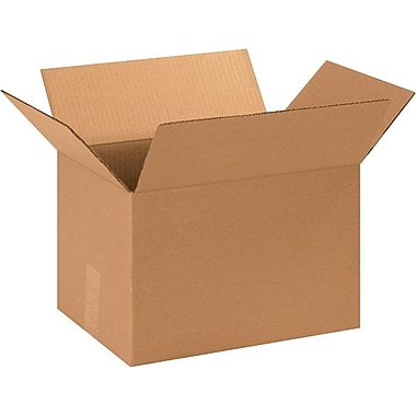 13.25in.(L) x 10.25in.(W) x 9in.(H) - Staples® Corrugated Shipping Boxes, 25/Bundle