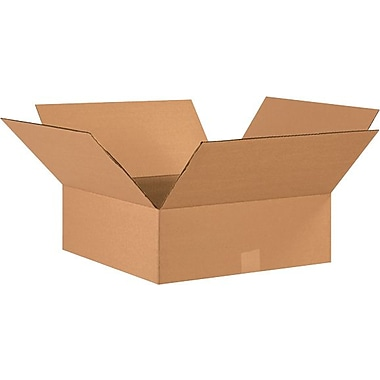 17in.(L) x 17in.(W) x 6in.(H) - Staples® Corrugated Shipping Boxes, 20/Bundle