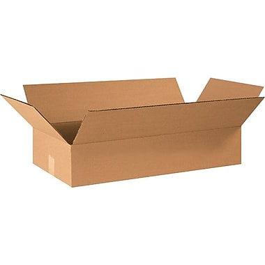 24in.(L) x 12in.(W) x 4in.(H) - Staples® Corrugated Shipping Boxes, 25/Bundle