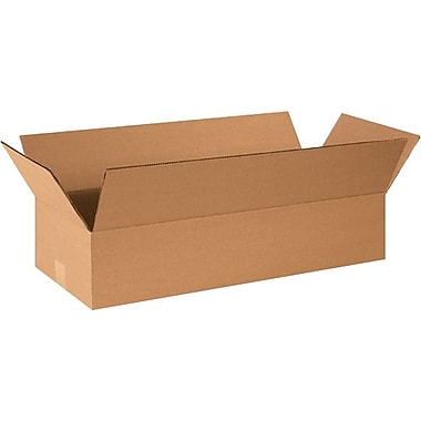 24in.(L) x 6in.(W) x 4in.(H) - Staples® Corrugated Shipping Boxes, 25/Bundle