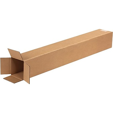 4in.(L) x 4in.(W) x 28in.(H) - Staples® Corrugated Shipping Boxes, 25/Bundle