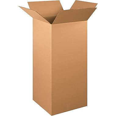 15in.(L) x 15in.(W) x 36in.(H) - Staples® Corrugated Shipping Boxes, 15/Bundle