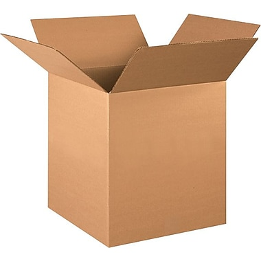16in.(L) x 16in.(W) x 18in.(H) - Staples® Corrugated Shipping Boxes, 25/Bundle