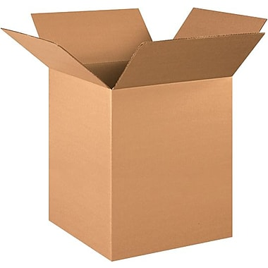 16in.(L) x 16in.(W) x 24in.(H) - Staples® Corrugated Shipping Boxes, 20/Bundle