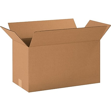 20in.(L) x 10in.(W) x 12in.(H) - Staples® Corrugated Shipping Boxes, 25/Bundle