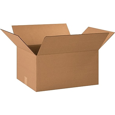 20in.(L) x 15in.(W) x 10in.(H) - Staples® Corrugated Shipping Boxes, 20/Bundle