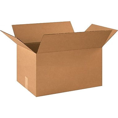 21in.(L) x 14in.(W) x 10in.(H) - Staples Corrugated Shipping Boxes, 20/Bundle
