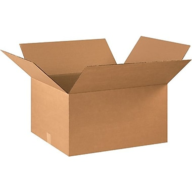 22in.(L) x 18in.(W) x 12in.(H) - Staples® Corrugated Shipping Boxes, 15/Bundle