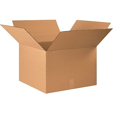 22in.(L) x 22in.(W) x 14in.(H) - Staples® Corrugated Shipping Boxes, 10/Bundle
