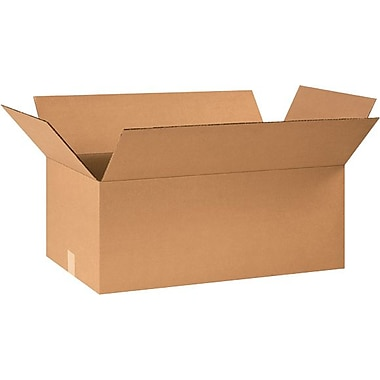 24in.(L) x 15in.(W) x 10in.(H) - Staples® Corrugated Shipping Boxes, 20/Bundle