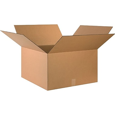 24in.(L) x 24in.(W) x 14in.(H) - Staples® Corrugated Shipping Boxes, 10/Bundle