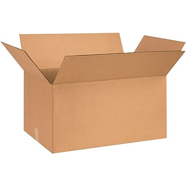 26in.(L) x 15in.(W) x 12in.(H) - Staples® Corrugated Shipping Boxes, 20/Bundle