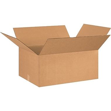 26in.(L) x 20in.(W) x 12in.(H) - Staples® Corrugated Shipping Boxes, 15/Bundle