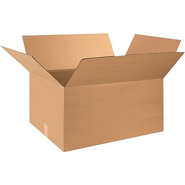 28in.(L) x 18in.(W) x 12in.(H) - Staples® Corrugated Shipping Boxes, 15/Bundle