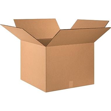 Boîte en carton ondulé à doubles parois testées 275 lb, 24 po x 24 po x 18 po, lot de 10