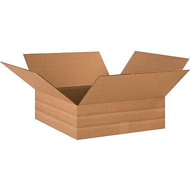 18in.(L) x 18in.(W) x 6in.(H) - Staples® Multi-Depth Corrugated Shipping Boxes, 20/Bundle