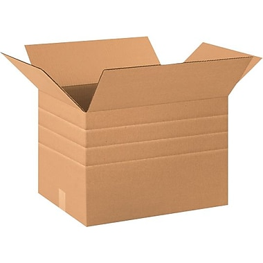 20in.(L) x 12in.(W) x 12in.(H) - Staples® Multi-Depth Corrugated Shipping Boxes, 20/Bundle