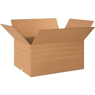 24in.(L) x 18in.(W) x 18in.(H) - Staples® Multi Depth Corrugated Shipping Boxes, 15/Bundle