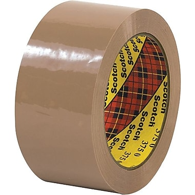 Scotch® #375 Hot Melt Packaging Tape, 2in. x 55 yds., Tan, 36/Case