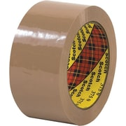Scotch® #375 Hot Melt Packaging Tape, 2 x 55 yds., Tan, 36/Case