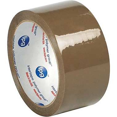 Intertape® 500 Production Grade Carton Sealing Tape, 2in. x 55 yds., Tan, 6/Pack