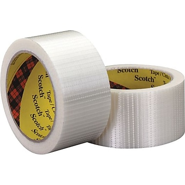Scotch® #8959 Bi-Directional Filament Tape, 2in. x 55 yds., 3/Case