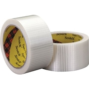 "Scotch® #8959 Bi-Directional Filament Tape, 2"" x 55 yds., 3/Pack"