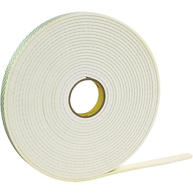 3M 4008 Double Sided Foam Tape, 3/4in. x 36 yds., 1/8in.
