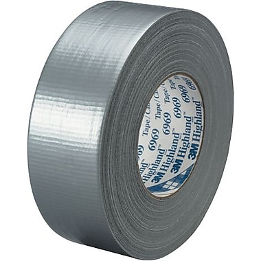 3M™ #6969 Duct Tape, Silver, 2in. x 60 yds., 3 Rolls/Case