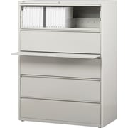 Staples® HL8000 Commercial 42 Wide 5 Drawer Lateral File Cabinet, Light Gray