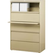 Staples® HL8000 Commercial 36 Wide 5-Drawer Lateral File Cabinets, Putty