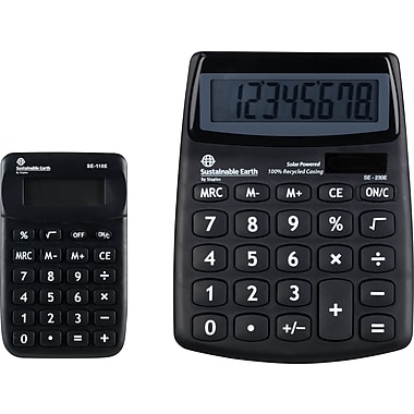 Staples 8-Digit Display ECO Calculator, Bonus Pack