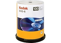 Kodak 100/Pack 4.7GB DVD-R, Spindle