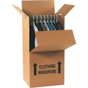 24(L) x 20(W) x 46(H) Staples® Wardrobe Boxes, 5/Bundle