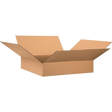 30in.(L) x 30in.(W) x 6in.(H) - Staples® Corrugated Shipping Boxes, 15/Bundle