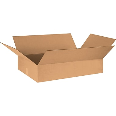 30in.(L) x 20in.(W) x 6in.(H) - Staples® Corrugated Shipping Boxes, 15/Bundle